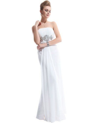 Ever-Pretty offer the best Ever Pretty Padded Empire Chiffon Ruching Gorgeous Bridesmaid Dress 09652, HE09652WH10,White 8US. This awesome product currently in stocks.