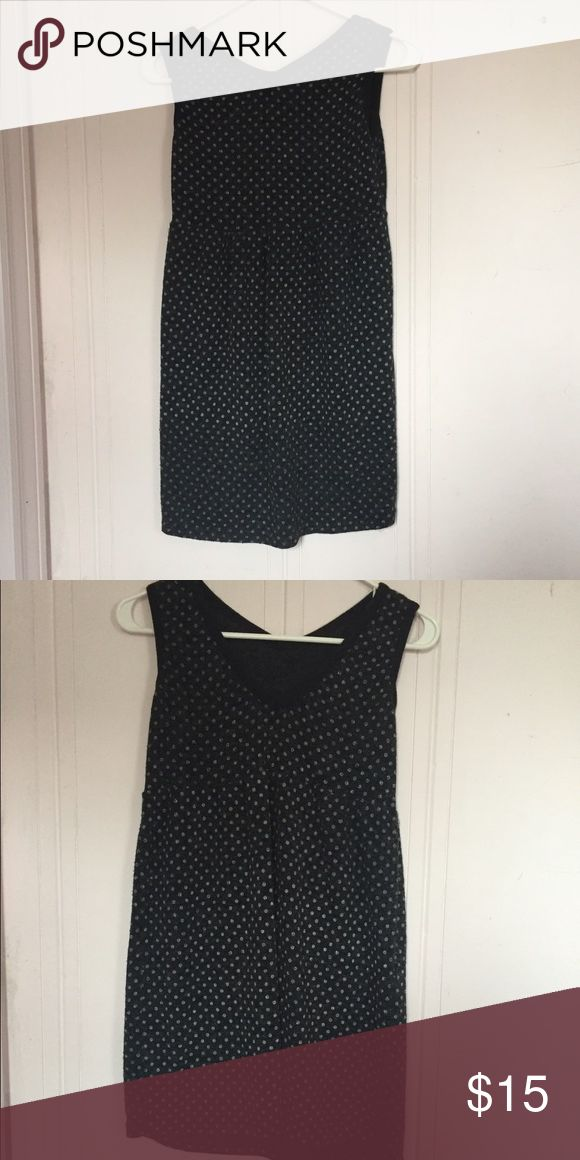 Black and White Polka Dot Dress Medium size black winter dress with white polka dots 👛BUNDLE 👛OFFER Dresses Mini
