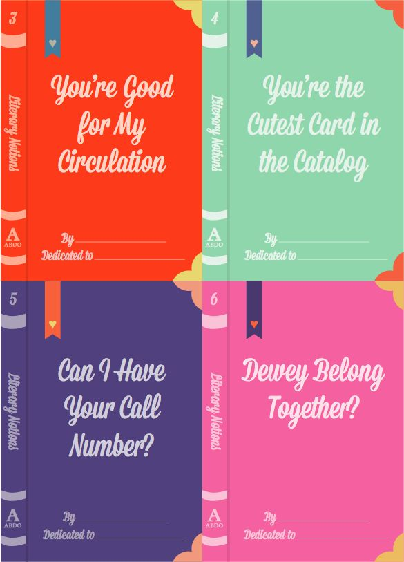Need valentines for all of your librarian friends? Look no further! Download our literary notions valentines!