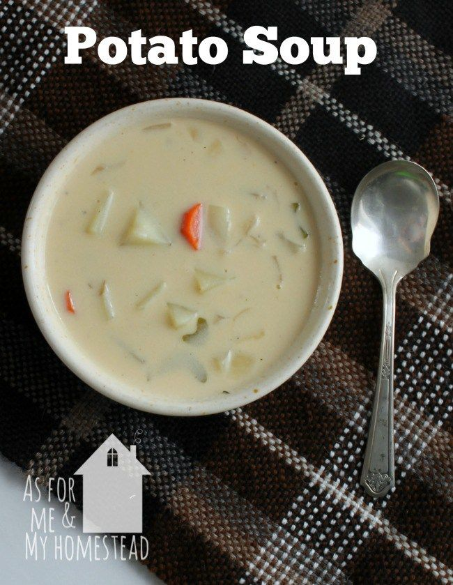 The best Potato Soup recipe, adapted from my childhood 4H book | www.asformeandmyhomestead.com