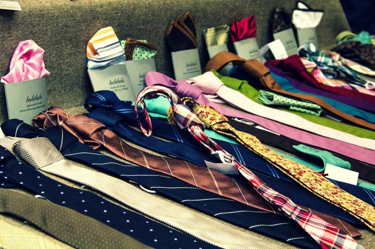 Necktie and pocket square display.