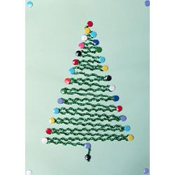 String Art Christmas Tree - easy idea