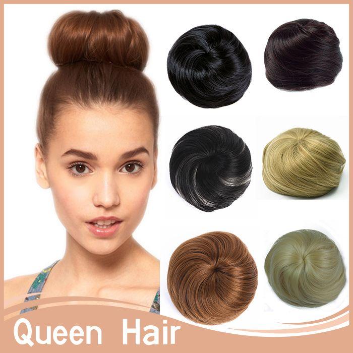 1PC Hair Bun Chignom Women Straight Bun Hairpiece Synthetic chignon Hair Bundles Bride Chignon Extension Drawstring