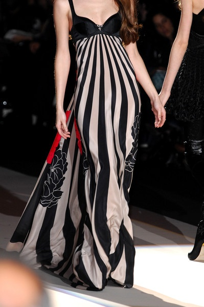 Skirt with Long vertical stripes and designs-Temperley London