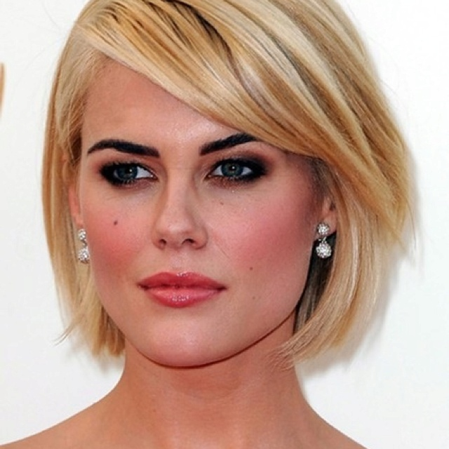 sideswept bob on straight hair. #NewYearStyleChallenge #SquareFaceHairstyle | hairstyles for women over 40 | Pinterest | Hair, Hair styles and Short hair styles