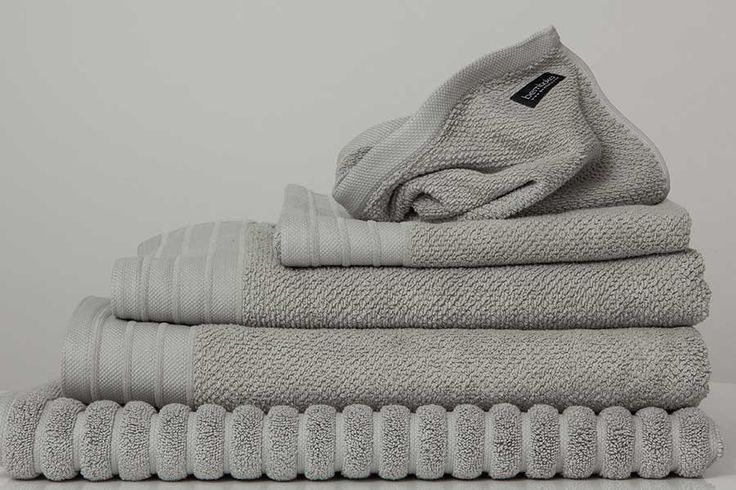 Bemboka Bathtowels. Woven in Turkey on jacquard looms in a weight of 650gsm. They are frequently used in commercial situations. These luxury towels are soft, thick, highly absorbent and long lasting. The beautiful pique border design with chenille ribbed stripes and a sophisticated neutral colour palette make these towels a bathroom classic for years to come.