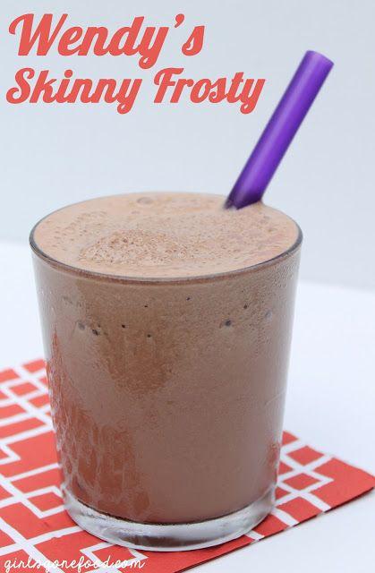 wendy's skinny frosty. healthy dairy-free alternative. greaty copycat recipe