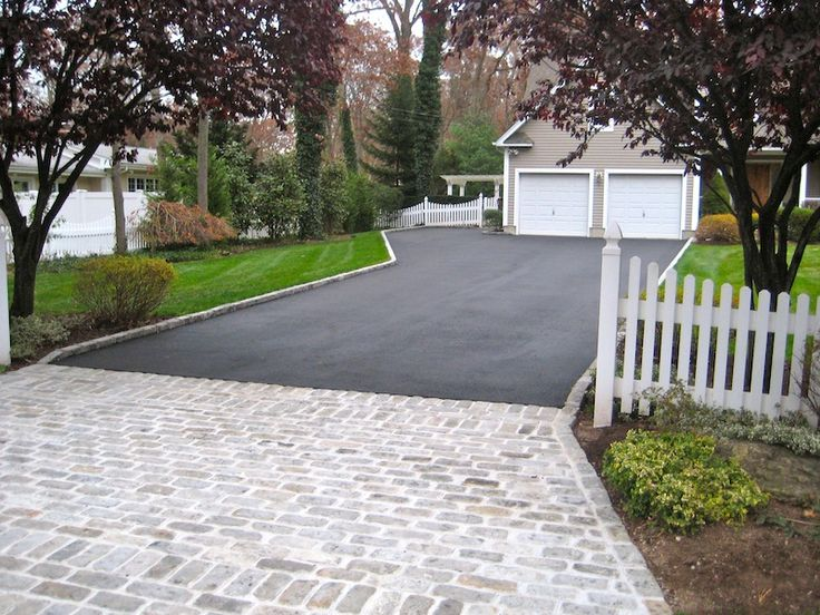 Belgium block apron with border driveway ideas pinterest for Driveway apron ideas