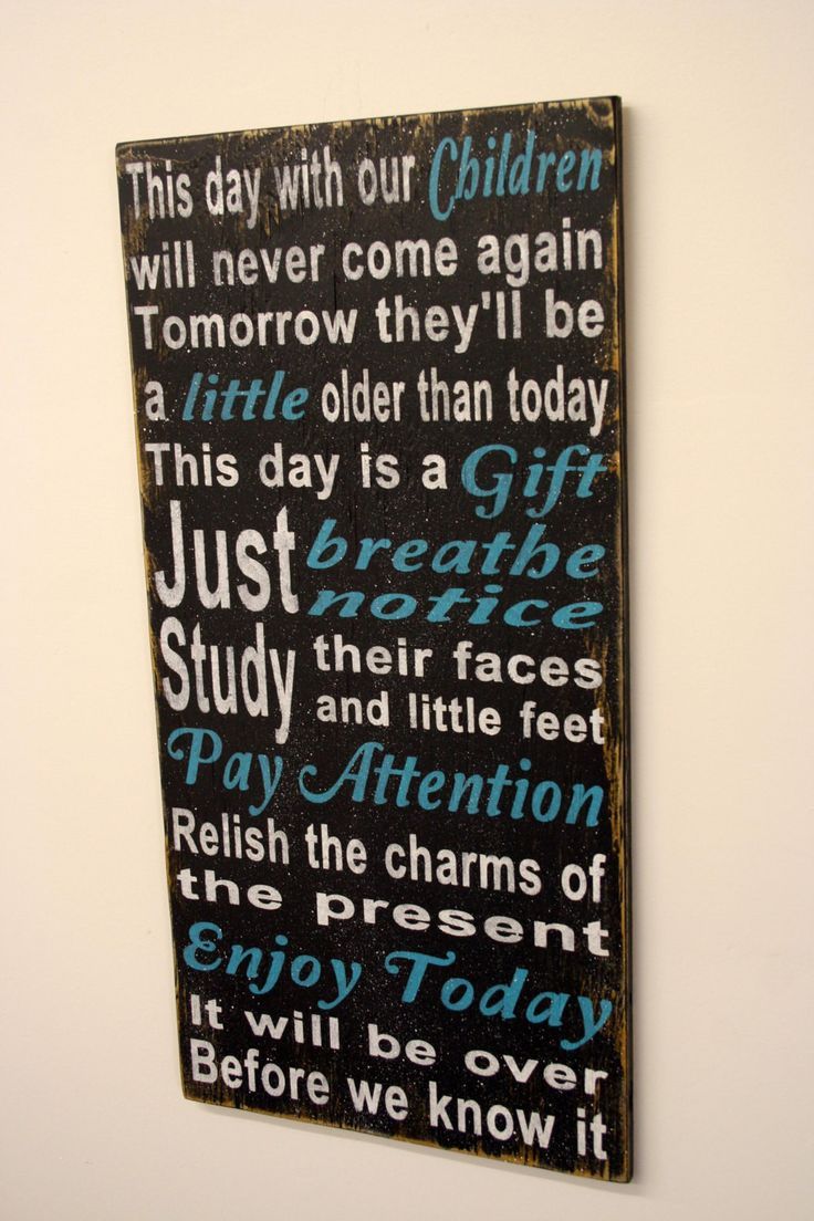 Enjoy Today Distressed Wood Sign Shabby Chic Wood Home Decor Childrens Wood Sign Vintage Wood Sign