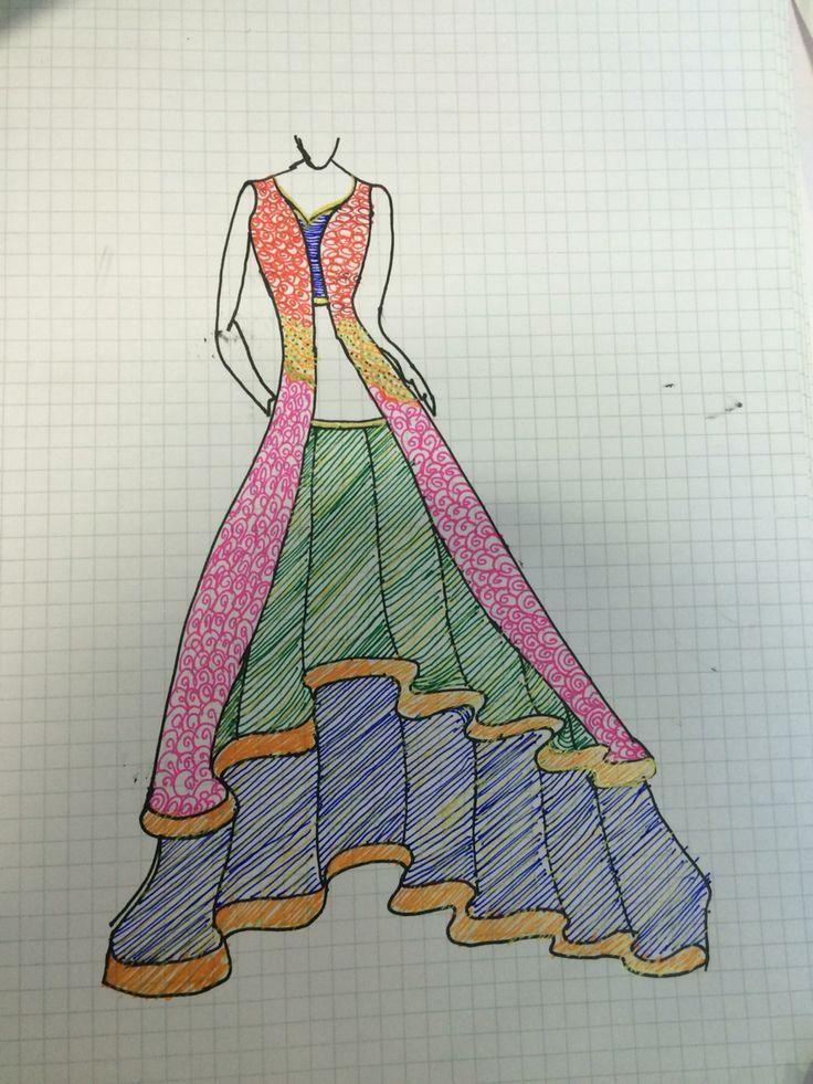 Lehnga design by me...