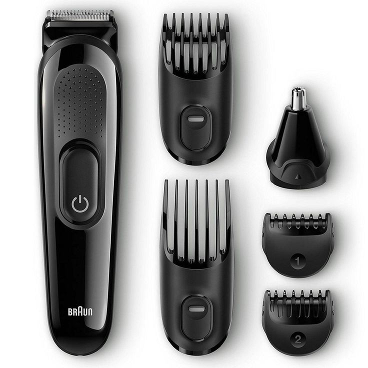 Mens Grooming Kit 6 in 1 Beard Hair Trimmer Face and Head Trimming Shaving NEW  #Braun