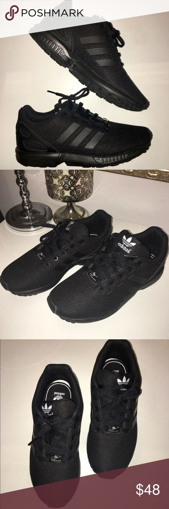 Adidas Black ZX Flux C Great Condition Adidas Originals ZX Flux running shoes. Incredibly comfortable, breathable, and supportive mesh upper, cushion insole, TPU heel and welded TPU 3-stripes adidas Shoes Sneakers
