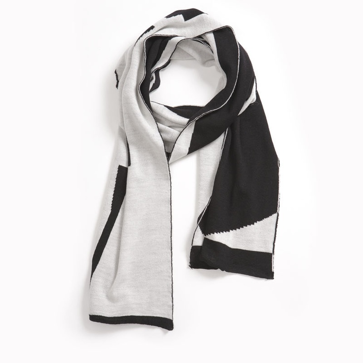 STRING THEORY, AW11 D VERSE SCARF: black-and-white scarves. neck-swaddling. good things. #scarf #string_theory Beautiful black and white!