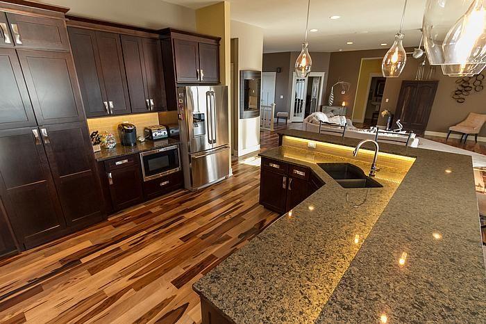 "Designer: Robyn Hardwood: Triangulo Natural Brazilian Pecan 5"" Engineered Kitchen Countertops ..."