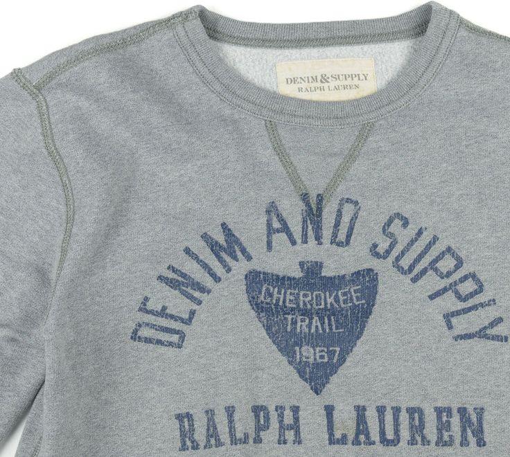 Polo Ralph Lauren Sweatshirt  Denim Supply 1967 Cherokee Trail Indian Arrowhead #RalphLauren #Crewneck ##sweatshirts