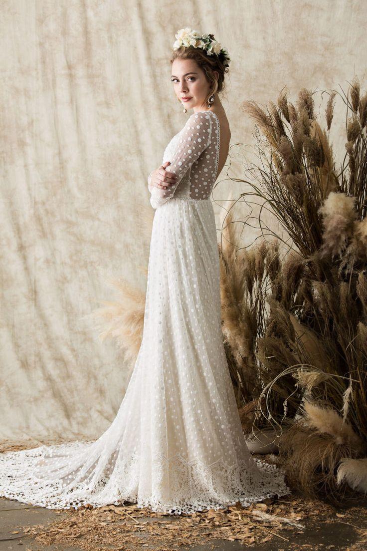 Miranda Langarm Spitze Brautkleid | Träumer und Liebhaber   – Craftiness