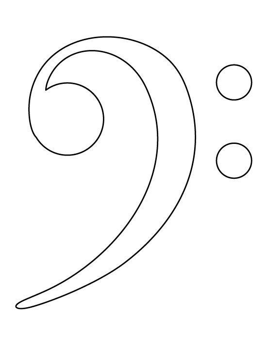 bass clef pattern use the printable outline for crafts creating stencils scrapbooking and. Black Bedroom Furniture Sets. Home Design Ideas