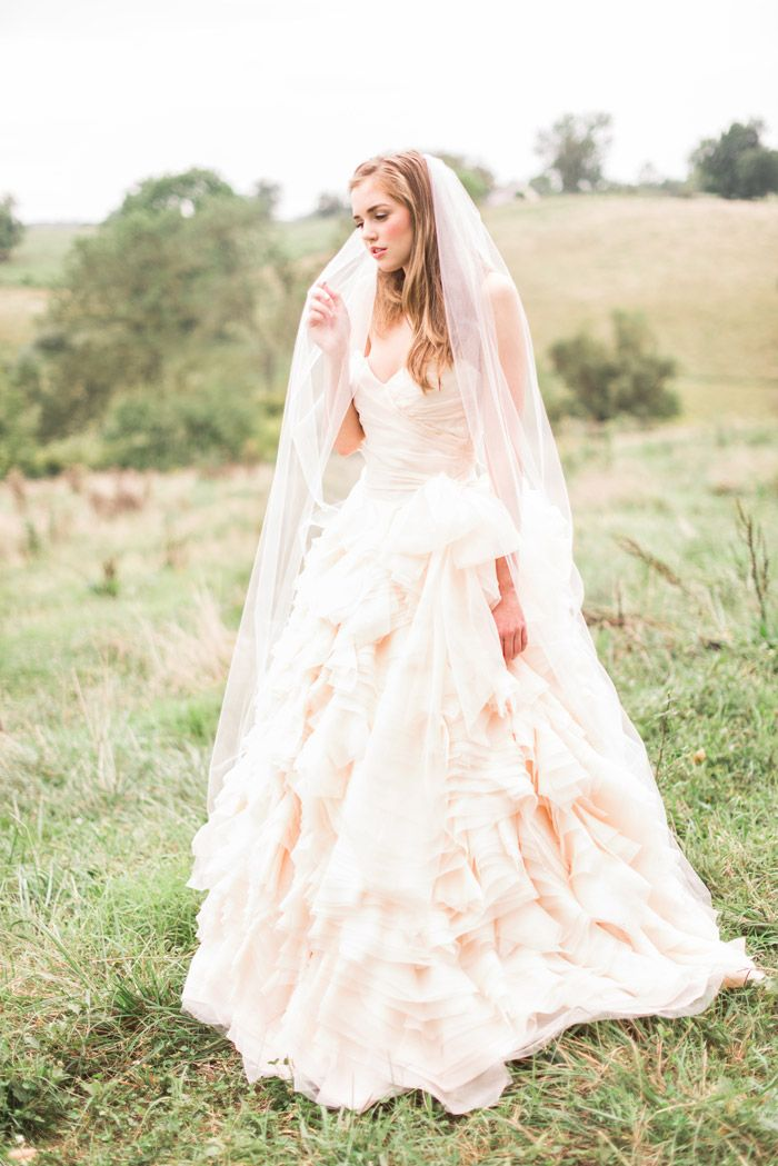154 best Blush Wedding Dress/Colorful Wedding Dress images on ...
