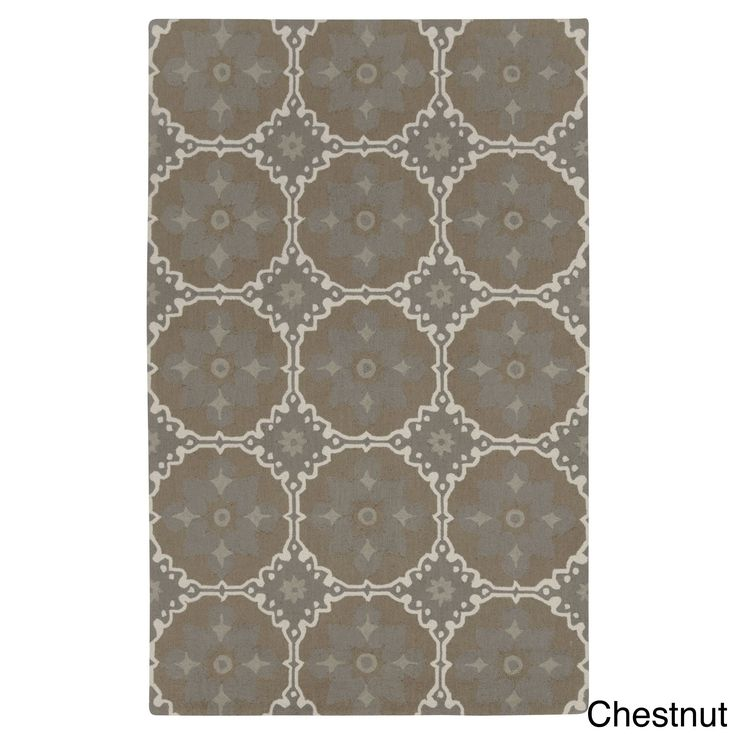 Kevin O Brien Fortune Rectangle Loop Hooked Rugs 5 X 8 Chestnut Beige Size Wool Abstract