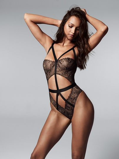 04719dea52 Only at Victoria s Secret. Strappy Chantilly Lace Teddy