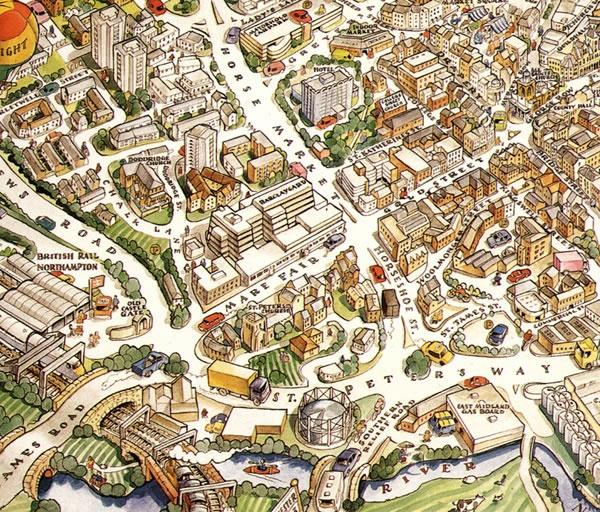 Northampton Illustrated Map