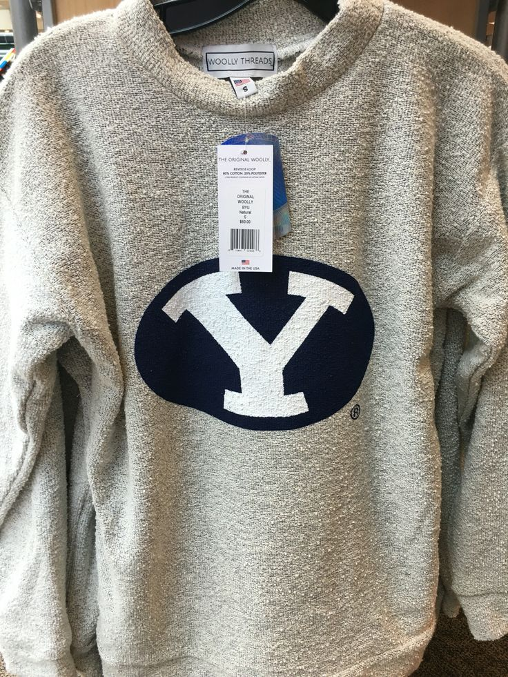BYU Sweatshirt - Order a plain Woolly on their website and specify in the notes that you'd like it to be a BYU Woolly and they will custom make it since Scheels doesn't carry it online.