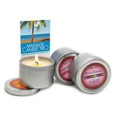 Intoxicating tropical candle, massage oil, and a moisturizer in one! One of the best unique romantic gifts for your partner - a candle gift bag with added functions of a warm massage oil and a gentle moistruizer to activate your senses.  Perfectly stimulating, this Candle Trio Gift Bag comes with enticing scents of Dreamsicle, Polynesia and Skinny Dip fragrances, each carefully chosen to get in touch with your senses and nourish the body.  One of the best features of this enchanting candle…
