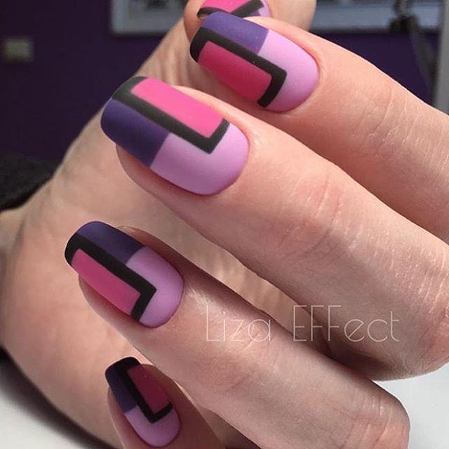 "797 Likes, 8 Comments - #NAILSMAGAZINE (@nailsmagazine) on Instagram: ""The #matte effect  #nails by @effect_nail_lab #nailart #mattenails #notd ▪️◾️⬛️#nailsmagazine"""