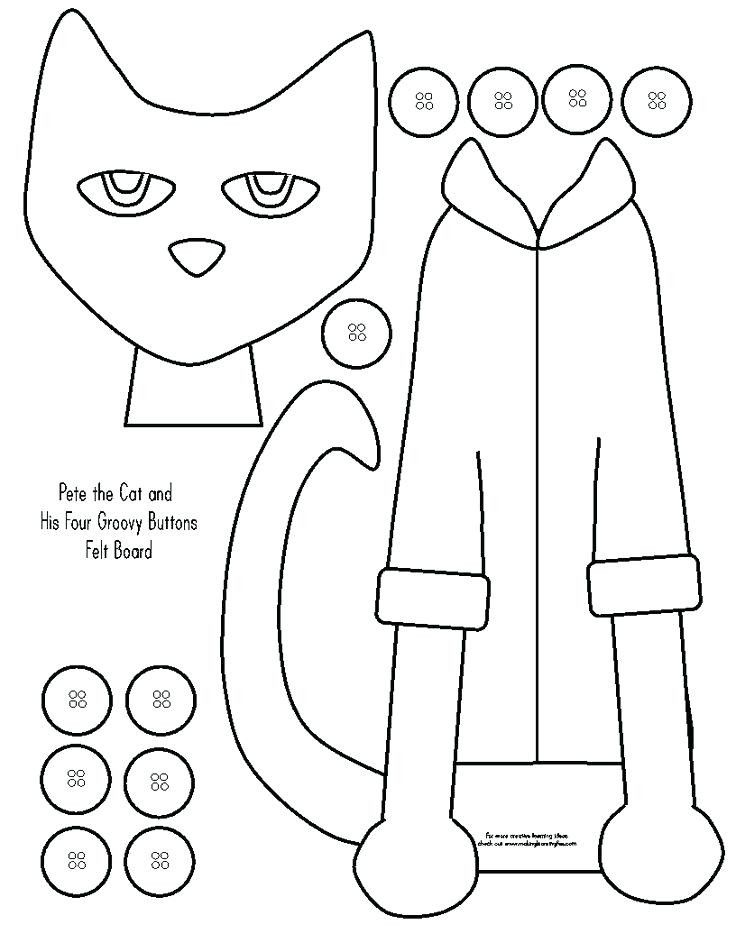 Pete The Cat Coloring Page Buttons Youngandtae Com In 2020 Pete The Cat Pete The Cat Buttons Cat Coloring Page