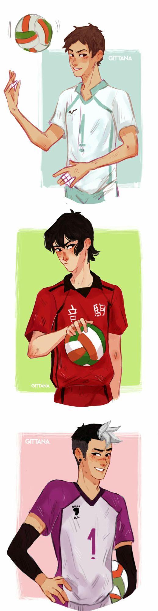 Keith / Lance | Shiro *crossover HAIKYUU!!*