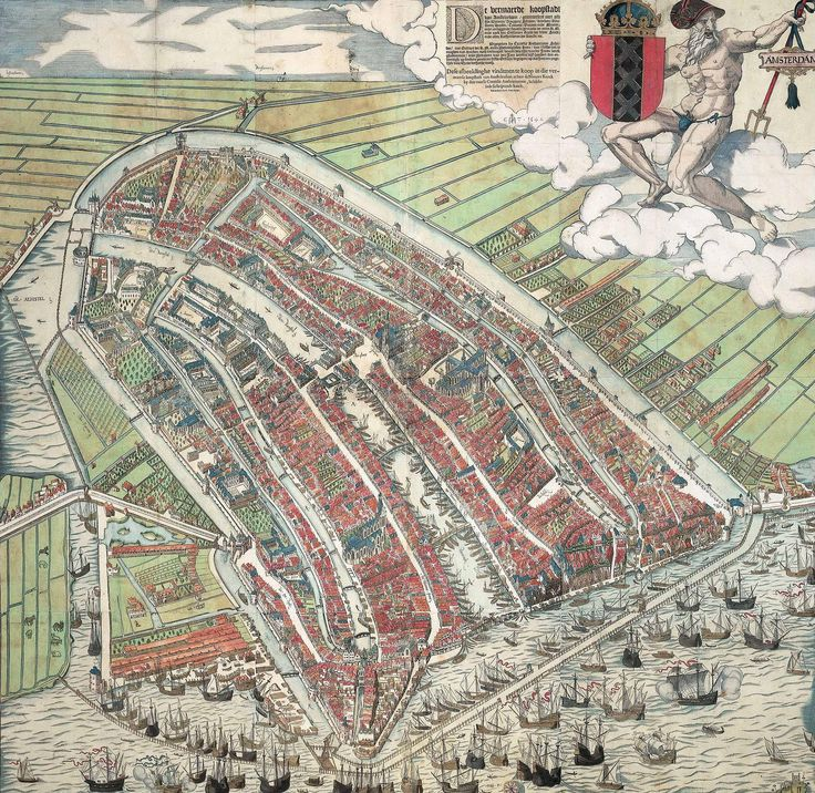 Cornelis anthonisz vogelvluchtkaart amsterdam History of