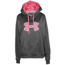 Neon Pink Under Armour Hoodie | Under Armour Storm Armour Fleece Print Big Logo Hoodie - Womens ...