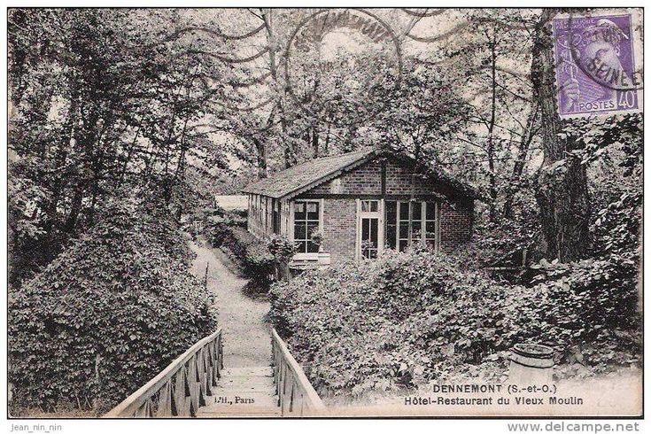 Chalet du club de voile de Dennemont au début du XXe siècle.