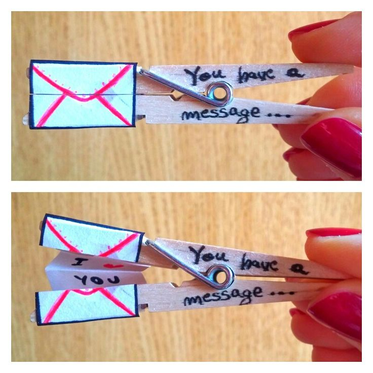 Message clothes pin