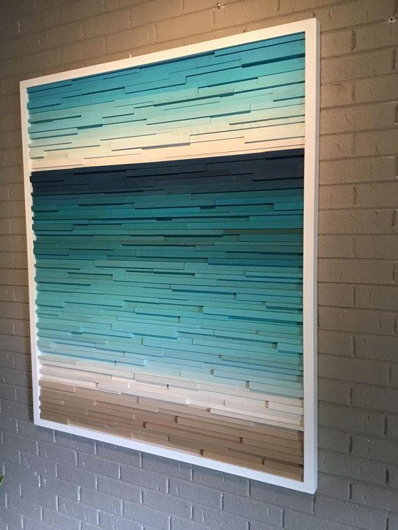 Wood Wall Art Beach Wall Art Ocean Wall Art Resort Decor Ocean