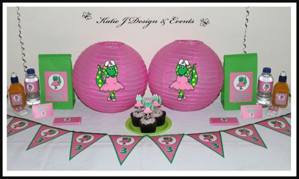 Paper Lanterns #Dorothy #Dinosaur #Wiggles #Birthday #Bunting #Party #Ideas #Decorations #Ideas #Banners #Cupcakes #WallDisplay #PopTop #JuiceLabels #PartyBags #Invites #KatieJDesignAndEvents #Personalised #Creative