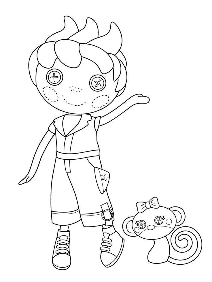lalaloopsy coloring page ace fender bender main character coloring