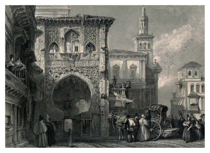 Casa del Carbonen Granada 1833 David Roberts