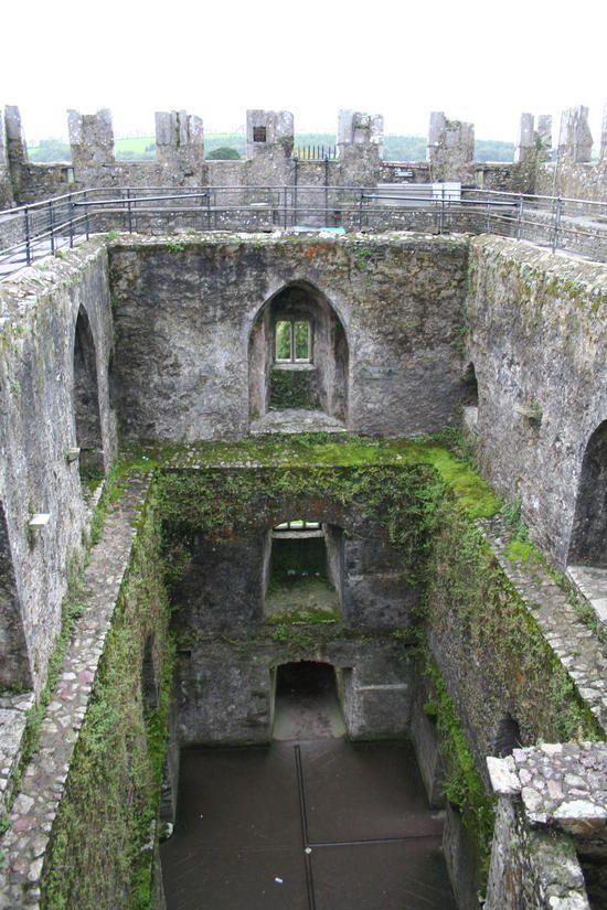Inside of the Blarney Castle in Ireland