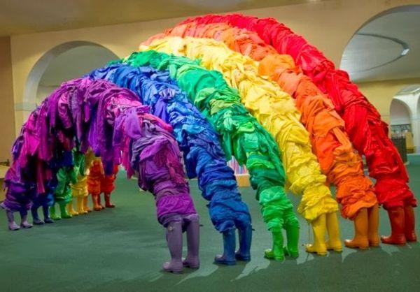 second hand kleidung regenbogen stiefel