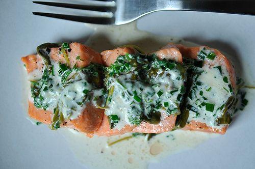 Salmon in Sorrel Sauce from @MrsWheelbarrow. An @Food52 contest winning recipe!