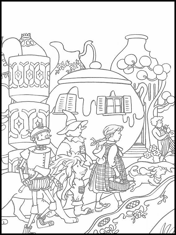 The Wizard Of Oz Coloring Book 18 Cool Coloring Pages Coloring Books Coloring Pages