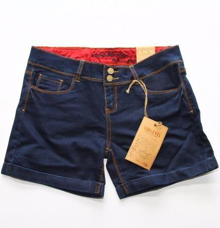 Pantaloni scurți de dama cu 5 buzunare cu aspect strâmt de la Sublevel