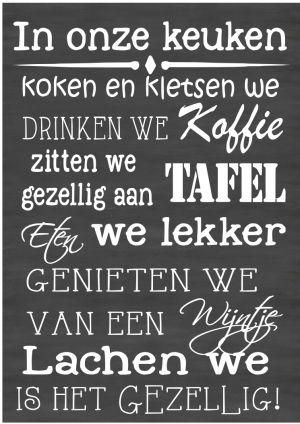 Tekstbord in onze keuken Chalkboard Typography by VanEtje