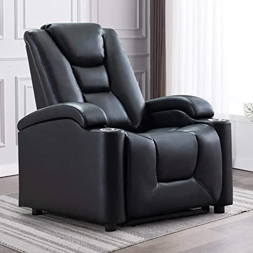 Buy Anj Electric Power Recliner Chair Cup Holders Adjustable Headrest Breathable Bonded Leather Classic Single Sofa Home Theater Recliner Seating W Usb Port In 2020 Power Recliner Chair Recliner Chair Sofa Home