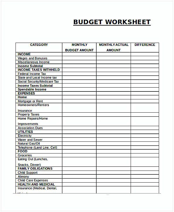 Budget Spreadsheet Template Excel With Images Budgeting