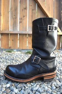 Vintage Engineer Boots: RESOLED CHIPPEWA 27899'S