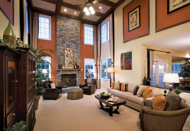 17 best images about toll brothers model homes on - How to decorate a family room ...
