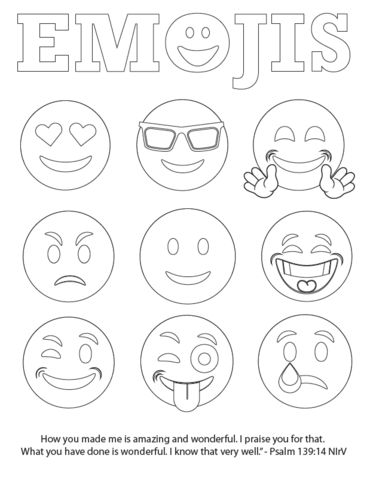 Free Emojis Coloring Page Children 39 s Pastor Only