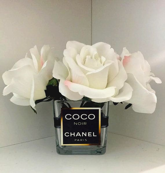 Chanel Inspired Vase / Chanel Roses / Chanel Flowers